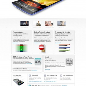 New iPhone 5 - website