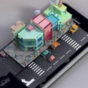 iPhone mit 3D-holographischem Bildschirm [film]
